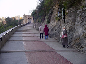 Photo: American tourists on the way up.