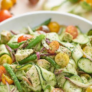 Chicken and Veggie Pesto Salad.