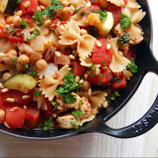 30-Minute Chicken and Chickpea Skillet Pasta