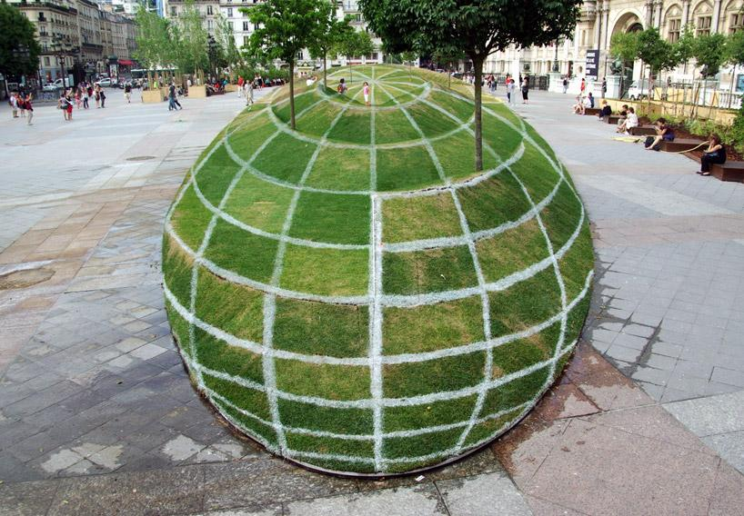 Image result for francois abelanet 3d grass globe