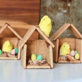 Graham Cracker Easter Bird Houses