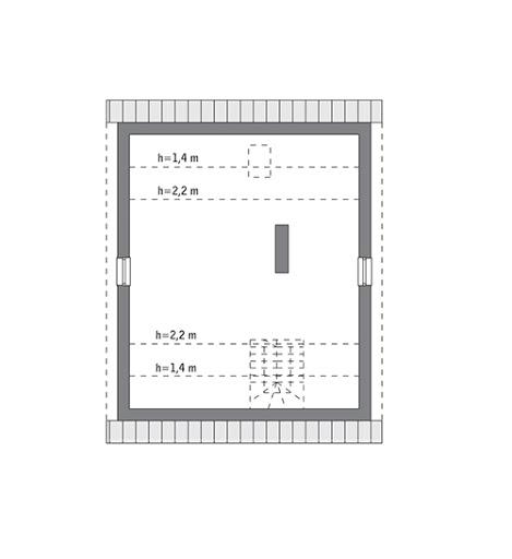 Niezawodny - M236 - Rzut poddasza do indywidualnej adaptacji (49,5 m2 powierzchni użytkowej)