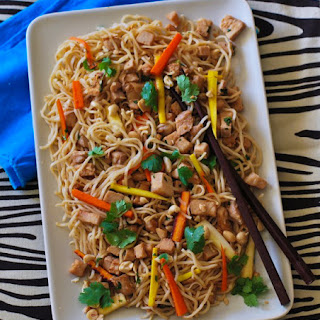 Slow Cooker Pork Tenderloin with Garlic Noodles.