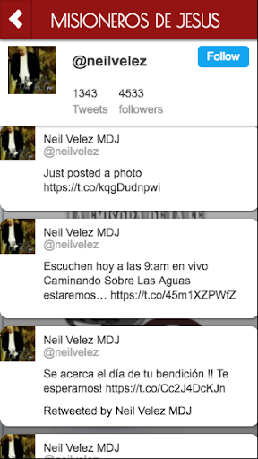 MISIONEROS DE JESUS screenshot