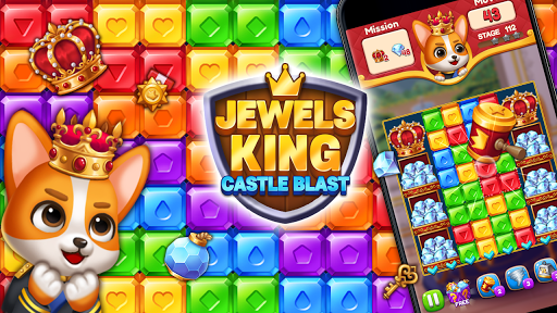 Jewels King : Castle Blast apkpoly screenshots 3