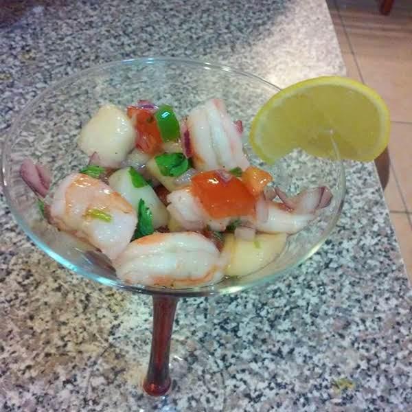 Shrimp, Bay Scallops & Calamari Ceviche Recipe