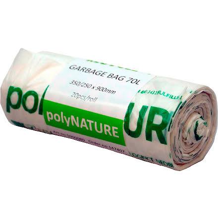 Sopsäck Polynature 70l vit 20/