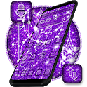 Purple Glitter Moon Theme icon