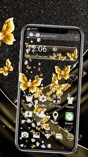 golden butterfly diamond gravity theme screenshot 1