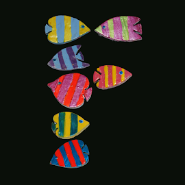 F for Fish by Janna Morrison - Typography Single Letters