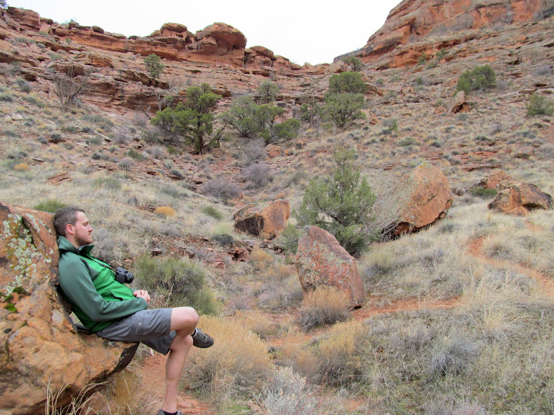 Photo: Chair rock on the way to the Moab Maiden petroglyph
