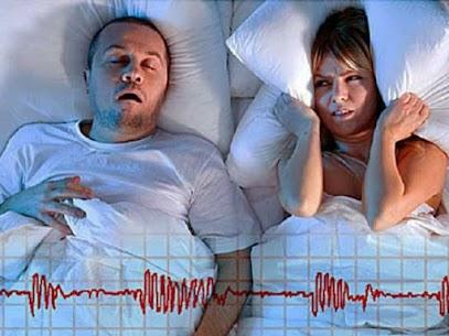 Man snoring and keeping spouse awake