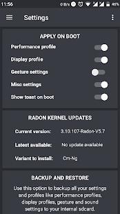Radon Kernel Control Screenshot