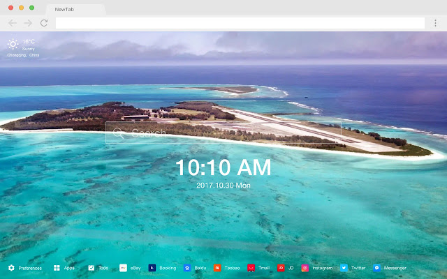 Hawaii HD New Tabs Popular Scenery Theme