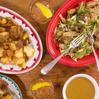 Michael Symon's Fried Potatoes With Pulled Pork and Cleveland-Style BBQ Sauce