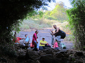 Photo: At the first big boulder (mini hill) at Pushpagiri forest