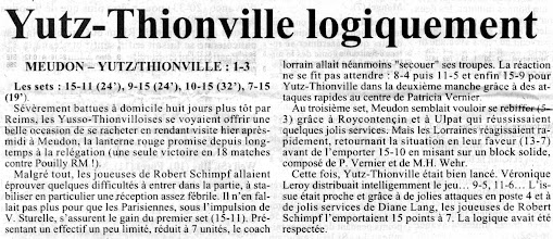 Photo: 01-04-96 N2F Après la défaite face à Reims, l'ASVB se rachète à Meudon 1-3