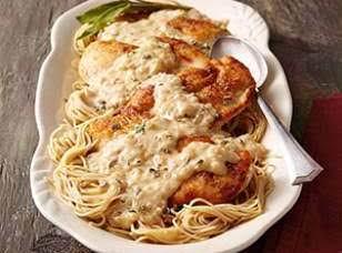 Creamy Mustard Chicken & Pasta