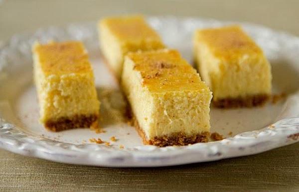 Eggnog Cheesecake Bars Recipe