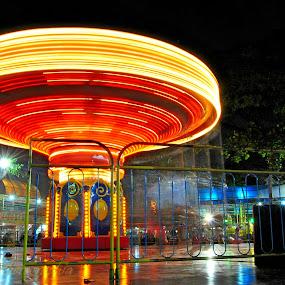 The.Carousel by Wahyu Jr. Abadi - Abstract Light Painting ( slowspeed, iso, geghans, long, nightshoot, surabaya, city, trail, bulb, parks, lightpainting, night, longexposure, fireworks, fire, new year, dipawali, diwali, 2014,  )