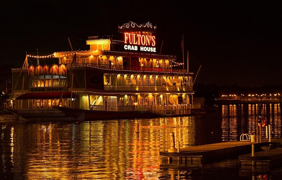 Fulton's Crab House by Linda Tiepelman - Transportation Boats ( walt disney world, fulton's crab house, seafood, food, florida, downtown disney, lake buena vista, restaurant )