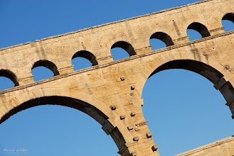 Photo: Detail of the Pont Du Gard