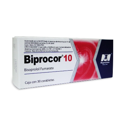 bisoprolol biprocor 10mg 30tabletas magnachem
