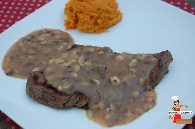 Steak with Financiere Sauce