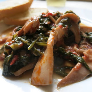 Squid with Greens and Garlic Recipe
