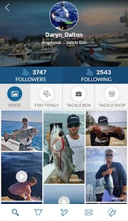 drophook Fishing App - náhled