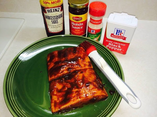 Mix together all the seasonings except for the balsamic glaze.  Stir together, and...