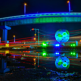 Biswa ব by Suman Basak - City,  Street & Park  Street Scenes ( speed, waterscape, colorful, street, reflections, long exposure, night, darkness, light, city )