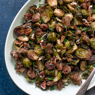 Roasted Brussels Sprouts with Sausage.