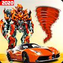 Robot tornado transform Shooting games 2020 icon