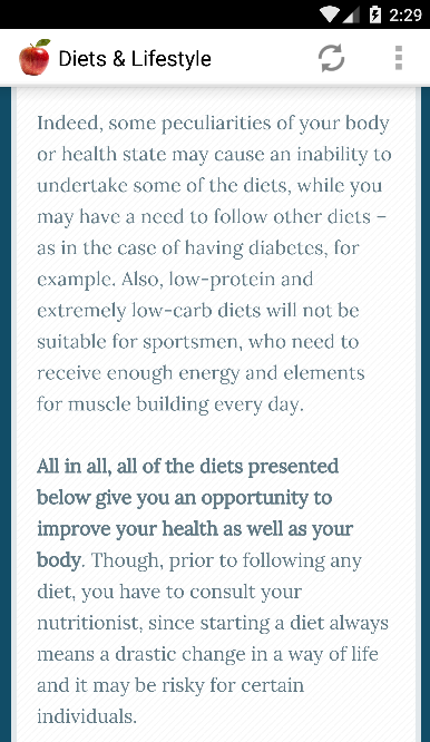 Diets & Lifestyle- screenshot