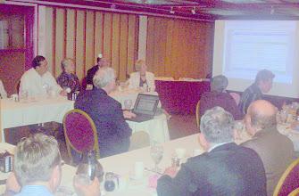 "Photo: Morgan Gilreath with Presentation  on  ""The Advantage of Passing Amendment 1""    3-11-08"