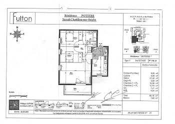 Appartement 3 pièces 66,14 m2