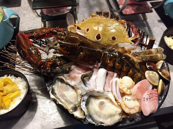 Tiffany藍的鑄鐵鍋熬煮現剖的波士頓龍蝦,海陸一次大滿足    宇良食 中科國安店
