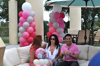 Photo: Abel Hernandez, Mariana Rodriguez y Maria Conchita Alonso. Acceso Total Anniversary. Balloon Columns By  http://www.BestPartyPlanner.net
