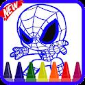Spider Boy Coloring Book Heros icon