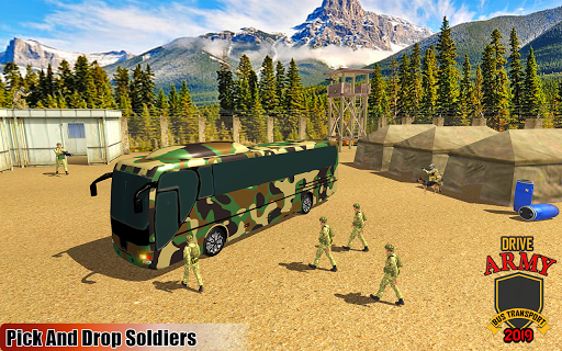Drive Army Bus Transport Duty Us Soldier 2019 1.0 screenshots 13