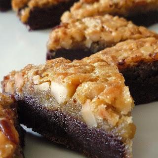 Macadamia Double-Decker Brownie Bars Recipe