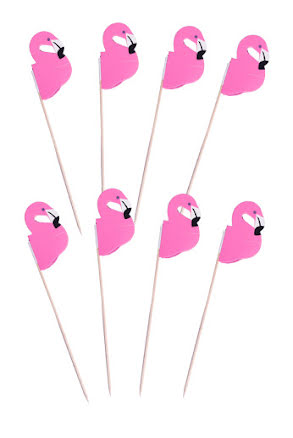 Picks, flamingo 8 st
