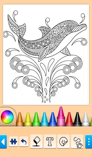 Dolphin and fish coloring book 14.0.4 screenshots 15