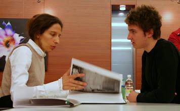 Photo: Laura MARCOLINI a confronto con Lorenzo ZOPPOLATO