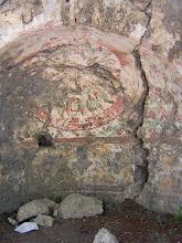Photo: Chimera, traces of paint in the Byzantine Church .......... Verfsporen in de Byzantijnse kerk.