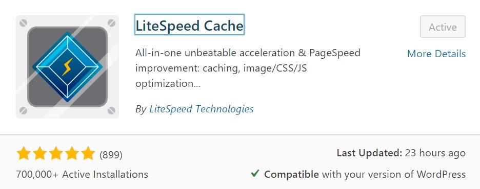 Installazione Plugin LiteSpeed Cache WordPress Plugin