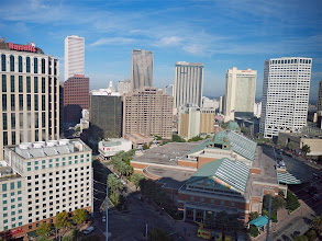 Photo: View from our room at the Hilton Riverside, New Orleans