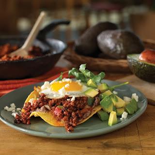Mexican Chorizo Huevos Rancheros.