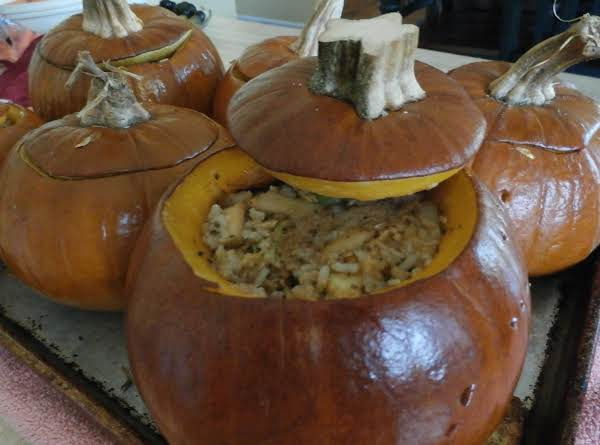 Baked Stuffing Pumpkins Recipe